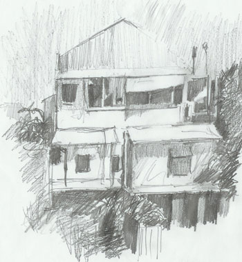 Drawings gallery for Beach house drawing